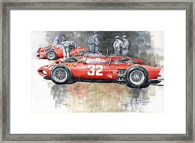 1961 Ferrari 156 Italian Gp 1961 Framed Print by Yuriy  Shevchuk