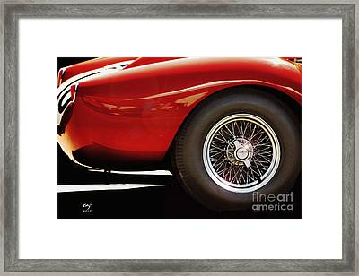 Ferrari 250 Tr Fender And  Wheel Framed Print by Curt Johnson