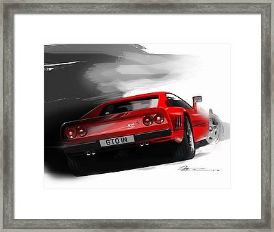 Ferrari 288 Gto Framed Print by Fred Otene