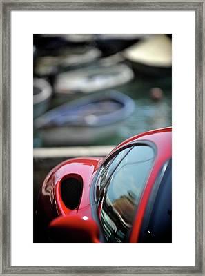 Ferrari 3 Framed Print by Bobby Bouchikhi