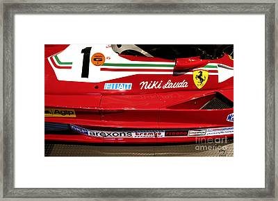 Ferrari 312 T2 F-1 Framed Print by Curt Johnson