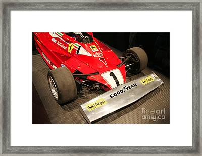 Ferrari 312 T2 F-1 Front Wing Framed Print by Curt Johnson