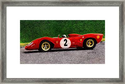 Ferrari 312p Pedro Rodriguez 1969 Framed Print by Ugo Capeto