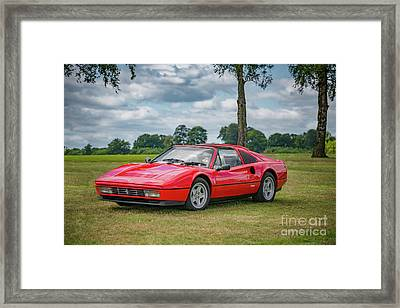Framed Print featuring the photograph Ferrari 328 Gts by Adrian Evans