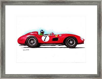 Ferrari 335s Mike Hawthorn 1957 Framed Print by Ugo Capeto
