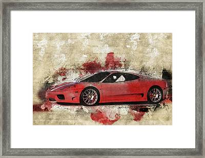 Framed Print featuring the photograph Ferrari 430  by Joel Witmeyer