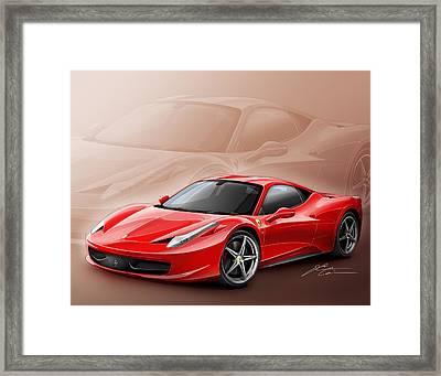 Ferrari 458 2011 Framed Print by Etienne Carignan