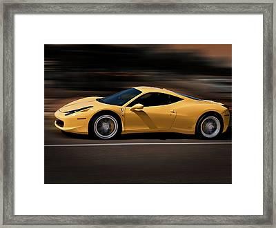 Ferrari 458 Italia Framed Print by Douglas Pittman