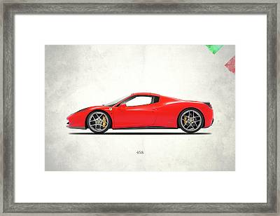 Ferrari 458 Italia Framed Print by Mark Rogan