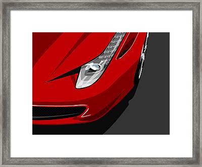 Ferrari 458 Italia Framed Print by Michael Tompsett