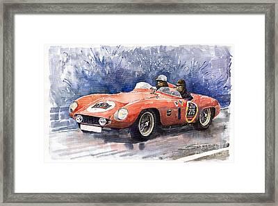 1953-1955 Ferrari 500 Mondial 1000 Miglia Framed Print