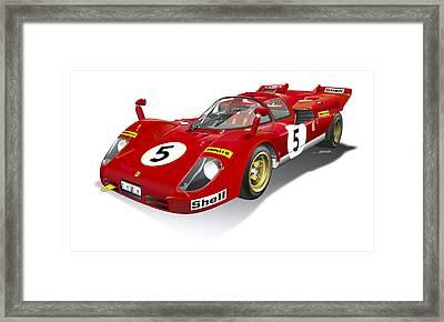 Ferrari 512 Illustration Framed Print by Alain Jamar