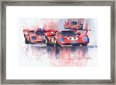 Ferrari 512 S 1970 24 Hours Of Daytona Framed Print by Yuriy  Shevchuk