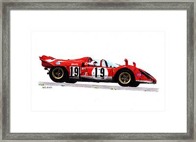Ferrari 512s Mario Andretti 1970 Framed Print by Ugo Capeto