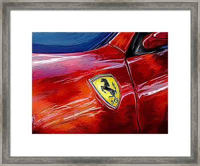 Ferrari Badge Framed Print by David Kyte