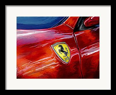 Italian Cars Digital Art Framed Prints