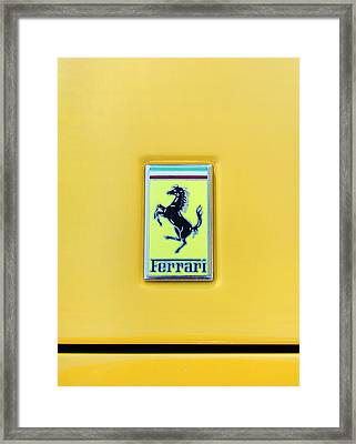 Ferrari Badge Framed Print by Theresa Tahara