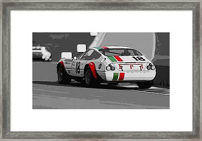 Ferrari Daytona 365 Gtb4 - Italian Flag Livery Framed Print by Andrea Mazzocchetti