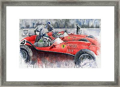Ferrari Dino 246 F1 1958 Mike Hawthorn French Gp  Framed Print
