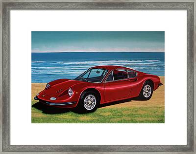 Ferrari Dino 246 Gt 1969 Painting Framed Print