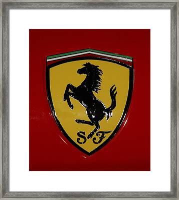 Ferrari Emblem 4 Framed Print