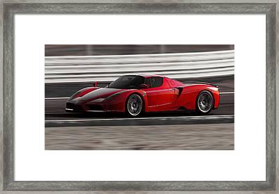 Ferrari Enzo - Rosso Corsa Framed Print by Andrea Mazzocchetti