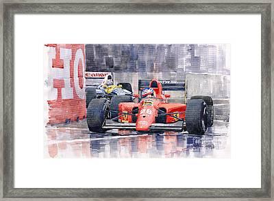 1991 Ferrari F1 Jean Alesi Phoenix Us Gp Arizona 1991 Framed Print by Yuriy  Shevchuk