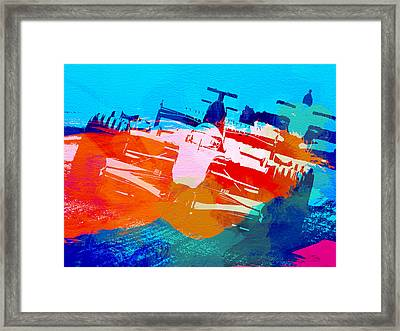 Ferrari F1 Racing Framed Print by Naxart Studio