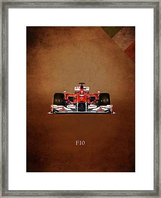 Ferrari F10 Framed Print by Mark Rogan