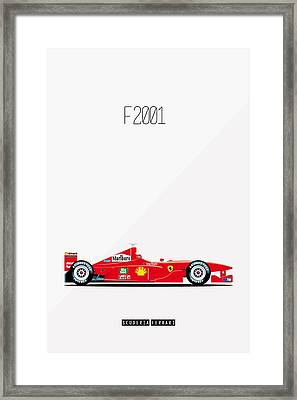 Ferrari F2001 F1 Poster Framed Print