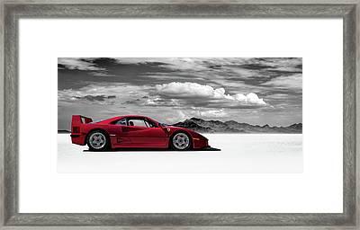 Ferrari F40 Framed Print