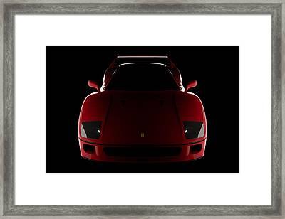 Ferrari F40 - Front View Framed Print