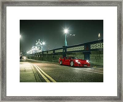 Ferrari F40 London Framed Print