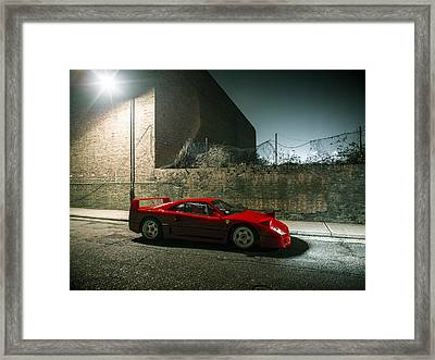 Ferrari F40 Lurking Framed Print