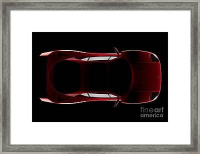 Ferrari F40 - Top View Framed Print