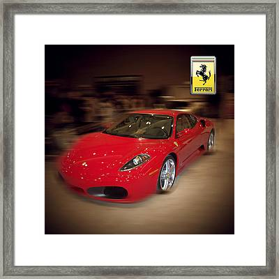 Ferrari F430 - The Red Beast Framed Print by Serge Averbukh