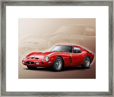 Ferrari Gto 1962 Framed Print by Etienne Carignan