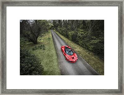 Ferrari Laferrari Country Drive Framed Print