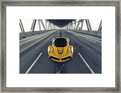 Framed Print featuring the photograph Ferrari Laferrari by ItzKirb Photography