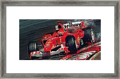 Ferrari - Michael Schumacher  Framed Print