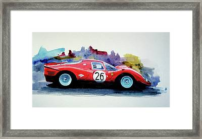 Ferrari P4 Watercolour Framed Print
