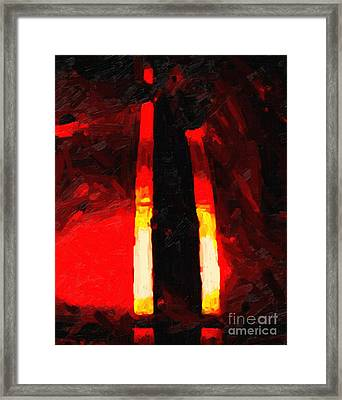 Ferrari Racing Abstract Framed Print by Wingsdomain Art and Photography