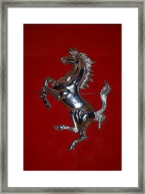 Ferrari Stallion Framed Print by Rob Hans