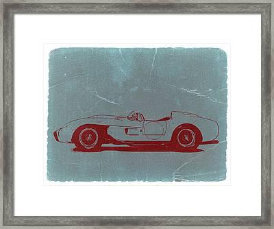 Ferrari Testa Rosa Framed Print by Naxart Studio