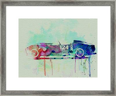 Ferrari Testa Rossa Watercolor 2 Framed Print by Naxart Studio