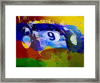 Ferrari Testarossa Watercolor Framed Print by Naxart Studio