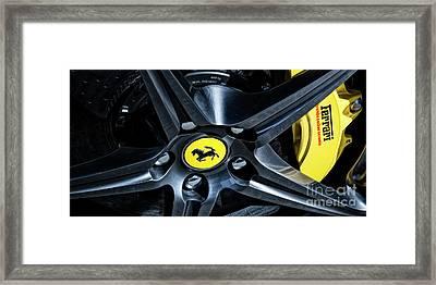Ferrari Wheel I Framed Print