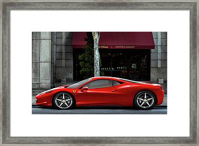 Ferrari Wine Run Framed Print