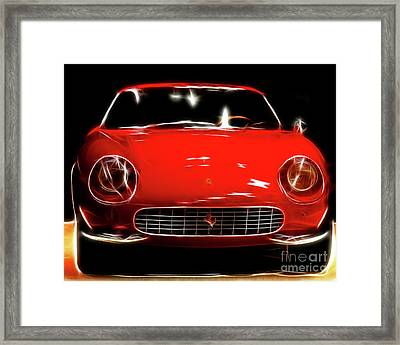 Ferrari Framed Print by Wingsdomain Art and Photography