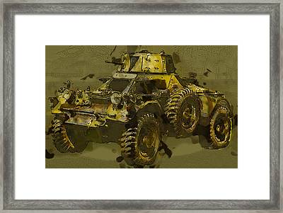 Ferret Scout Car Framed Print by Roy Pedersen
